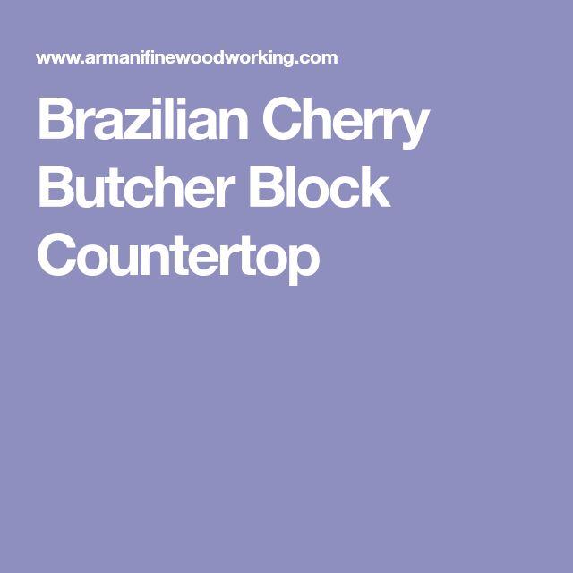 Brazilian Cherry Butcher Block Countertop
