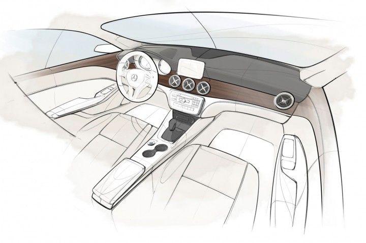 Mercedes-Benz CLA-Class Interior Design Sketch.