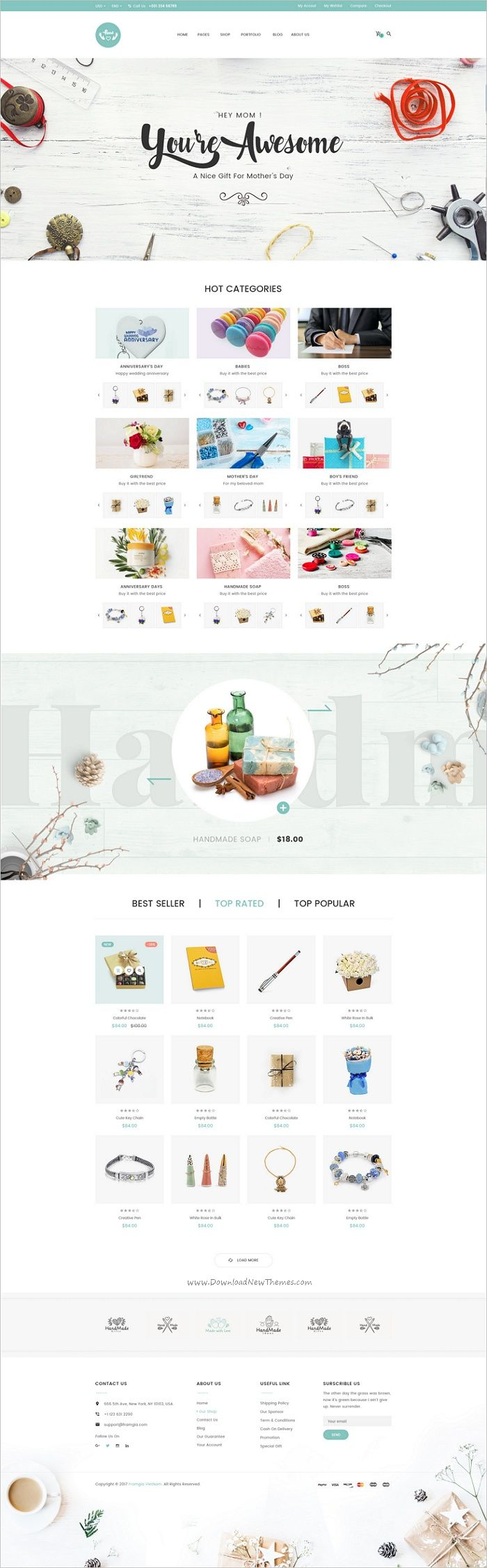 HandLove is a modern #PSD #eCommerce template suitable for handmade #shop, gift shop, fashion shop websites download now➩ https://themeforest.net/item/handlove-ecommece-psd-template/19194085?ref=Datasata