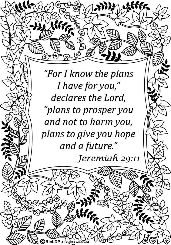 Free 15 Printable Bible Verse Coloring Pages This Is My Life