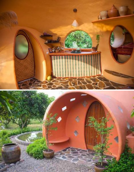 1000 images about unique small cabins and guest houses on for Modern hobbit house
