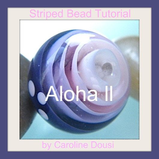 Striped Bead Tutorial Aloha II by Caroline Dousi by DousiDesign, $10.00