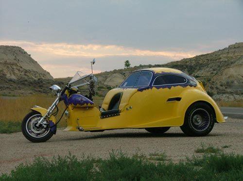 Custom VW Beetle Trike - 1987 Kawasaki Ninja Motorcycle by toolnorth, via Flickr