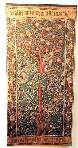Miniature colonial, medieval, and tudor faux tapestries