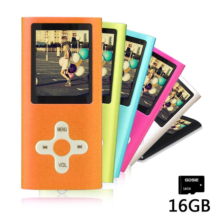 Goldenseller Mp3 / Mp4 Player, with 16GB Micro SD Card, Media Player, Portable Videos Player, Music Player, Voice Recording Player, Supporting MP3, WMA, JPEG and TXT files (16GB,Orange)