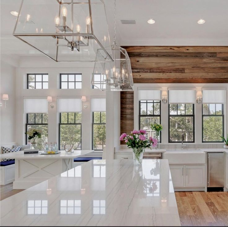 The 15 Most Beautiful Kitchens On Pinterest Sanctuary Home Decor Modern Farmhouse Kitchens Beautiful Kitchens Interior Design Kitchen