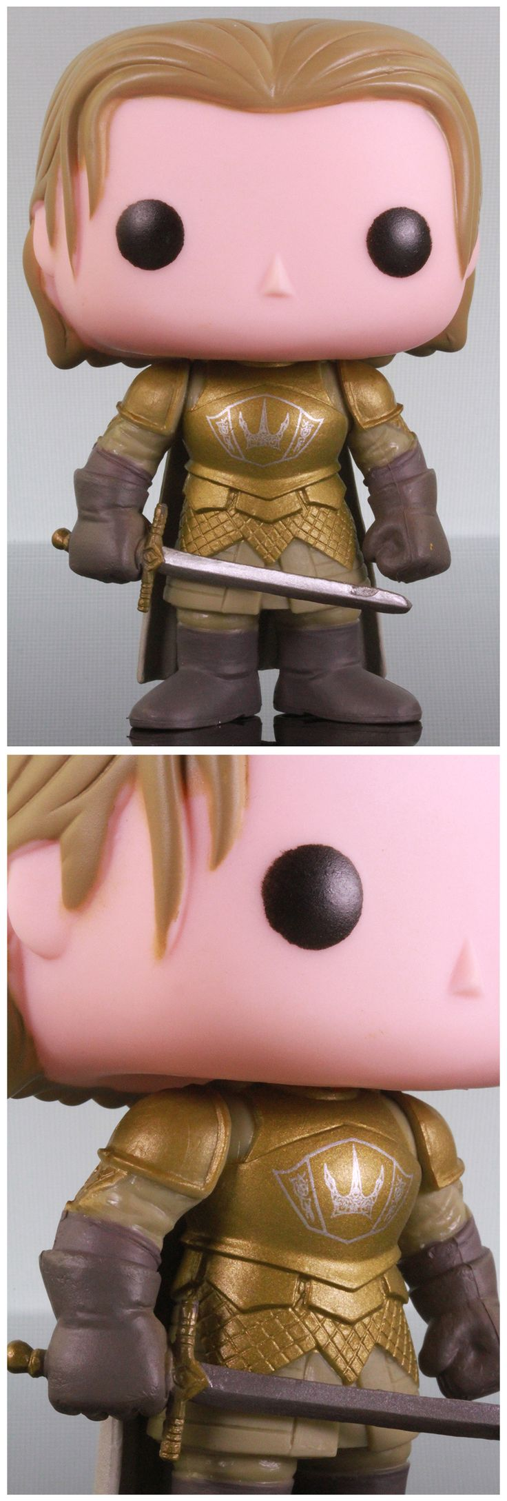With intentions for killing his own king unknown, the Kingslayer  was found chillin' on the Iron Throne when Ned rolled into King's Landing. Game of Thrones King's Guard Jaime Lannister Funko Pop 10