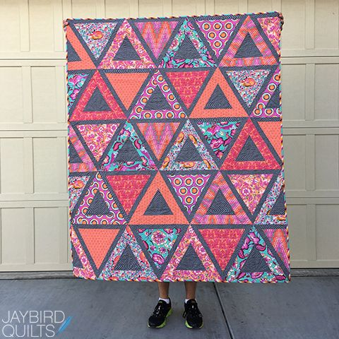 Jaybird Quilts Chopsticks Quilt. Made with Tula Pink Chipper. Available in local & online quilt shops. #JaybirdQuilts  #ChopsticksQuilt