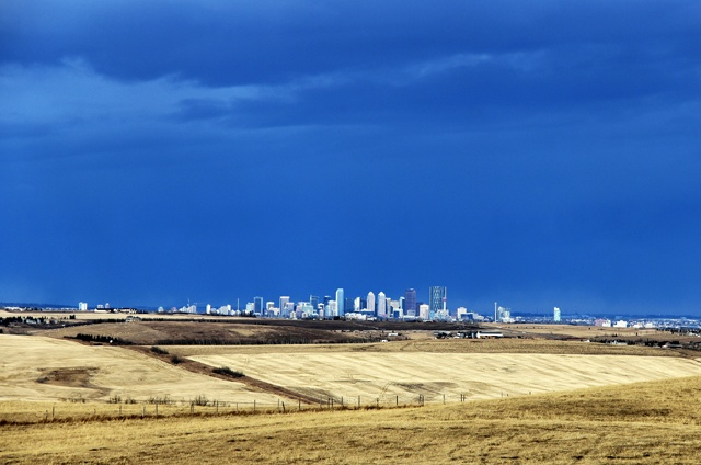 #Cityscape, from afar #yyc | http://www.stampedetoyota.com