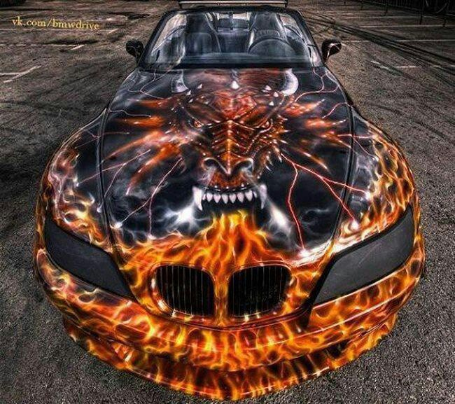 Best Badass Paint Jobs Images On Pinterest Nice Cars Car - Custom vinyl decals for rc carsimages of cars painted with flames true fire flames on rc car