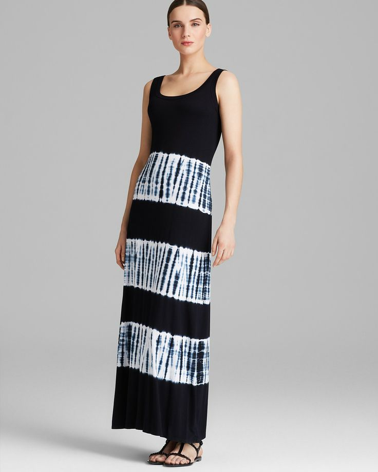 Karen kane black and white maxi dress
