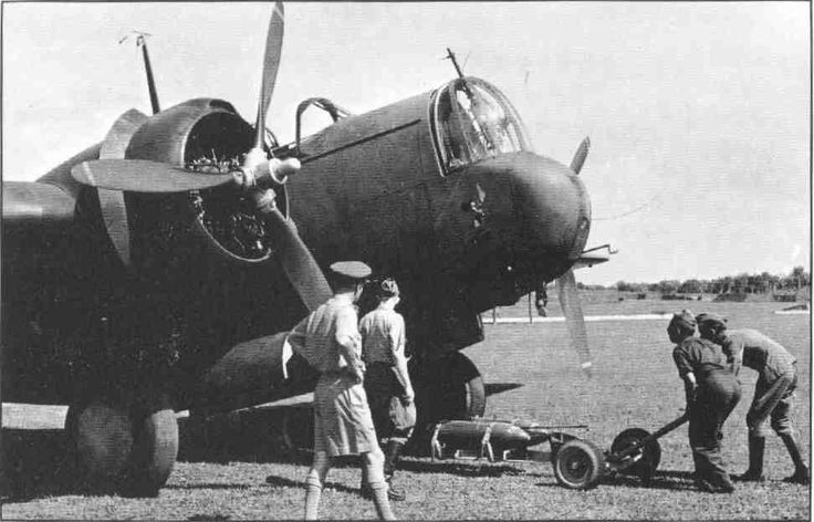 A ML/KNIL Glenn Martin WH-139 being bombed up at Kalidjati, mid-1941