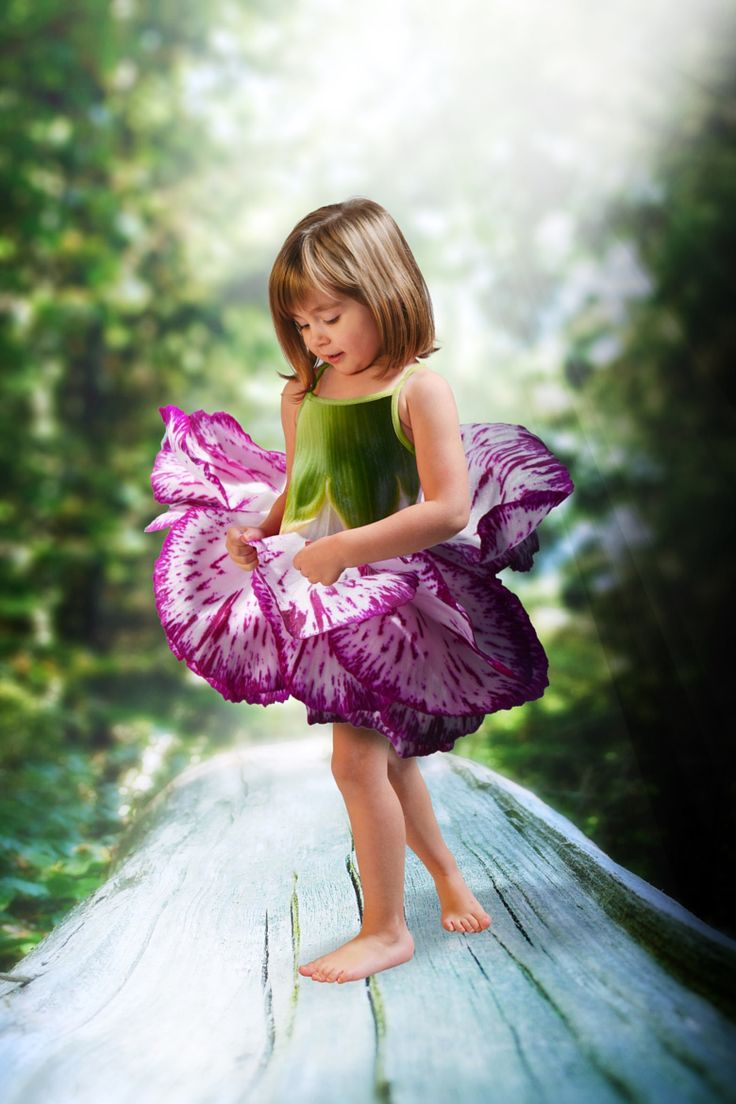 Photograph Marine by Matthieu Miller on 500px - photoshopped flowers over a cute dress!