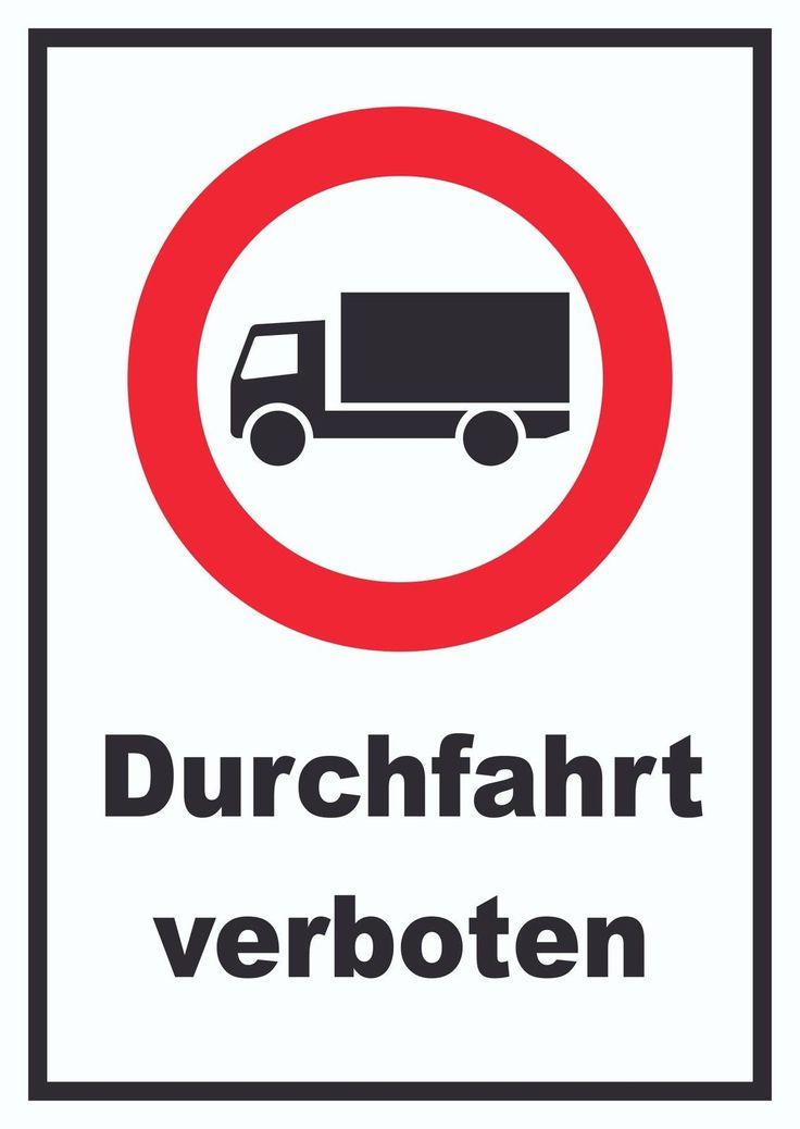 Verbotsschild Durchfahrt verboten für LKW #verbot #schilder #kfz #auto #verkehr  Verbotsschild Durchfahrt verboten für LKW #verbot #schilder #kfz #auto #verkehr