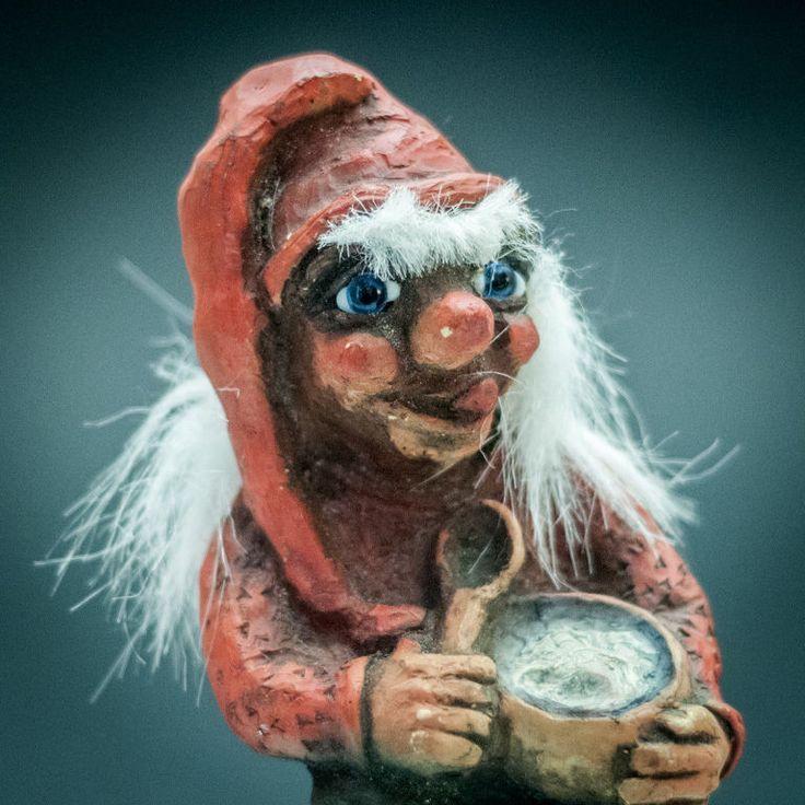 Rare Norwegian Sven's Christmas Troll Vintage Norway Troll Eating Porridge  #Troll