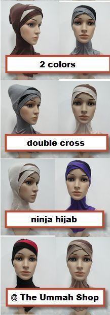 new 2 color double Crossover Ninja Underscarf neck cover hijab muslim bonnet cap