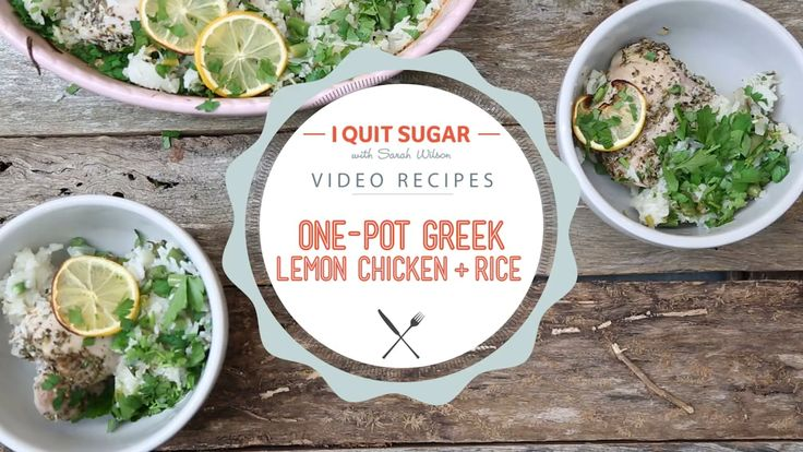 One-Pan Greek Lemon Chicken + Rice - I Quit Sugar Recipe.