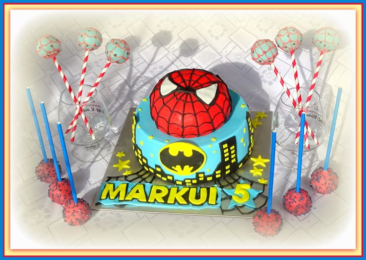 Spiderman theme- cake and cake pops