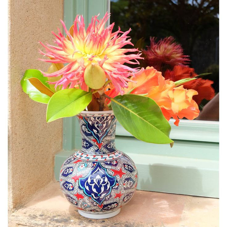 Le vase Melis est décoré de jolis motifs géométriques orientaux. #decoration #deco #homedesign #homedecor #vase #ceramics