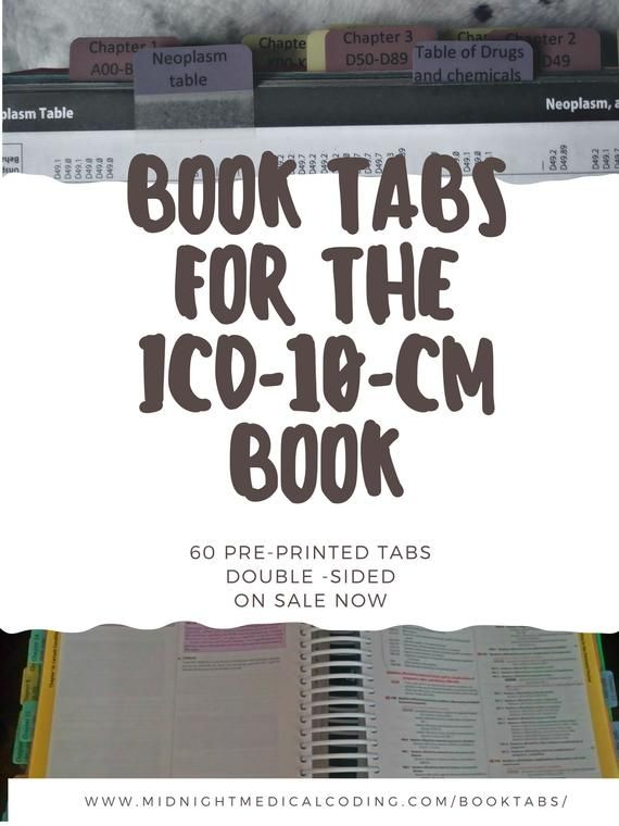 Book Tabs For The ICD-10-CM Book | Products | Medical coding