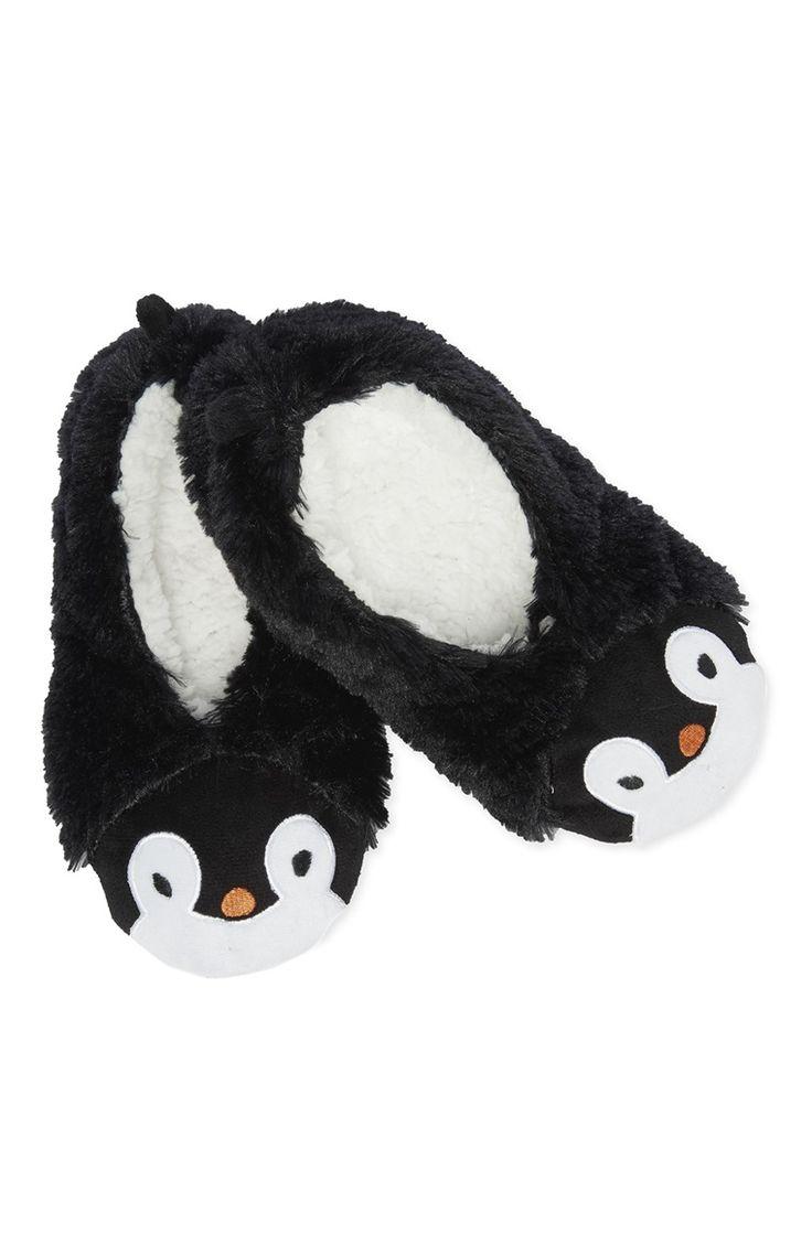 Primark - Novelty Penguin Fleece Ballet Slipper