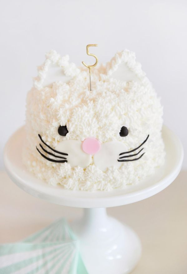 You need to make this kitten party cake right meow. It's perfect for birthdays, baby showers, or just because. How adorable!