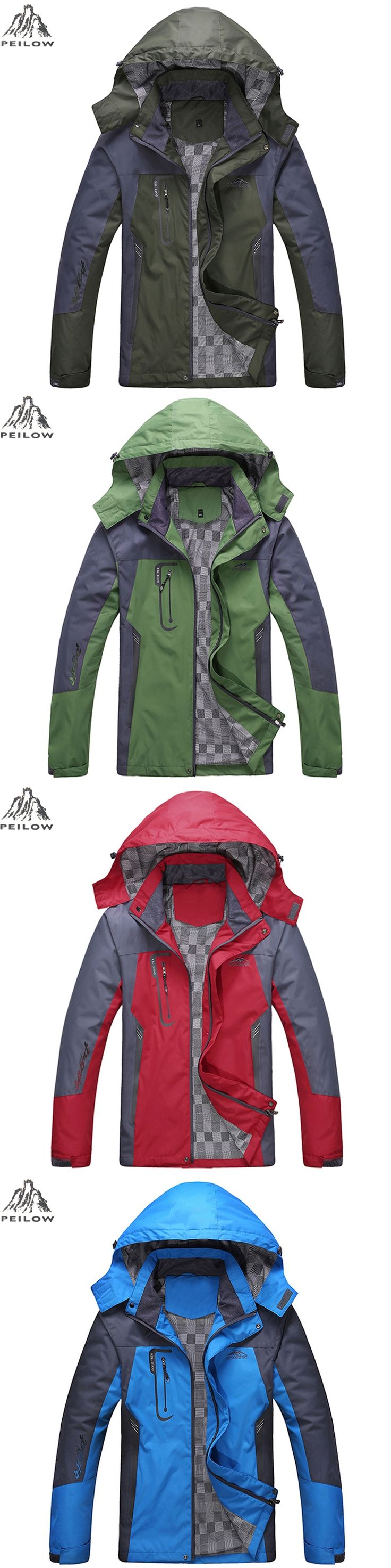 PEILOW women Men's Waterproof Windpoof Jackets Men Spring fall Jacket Coats Male Tourism Mountain Brand Clothing Plus Size L-5XL