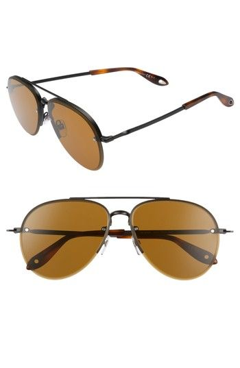 Free shipping and returns on Givenchy 62mm Oversize Aviator Sunglasses at Nordstrom.com. Gradient lenses exude an aura of mystery in these perfectly oversized aviator sunglasses with a semi-rimless silhouette.