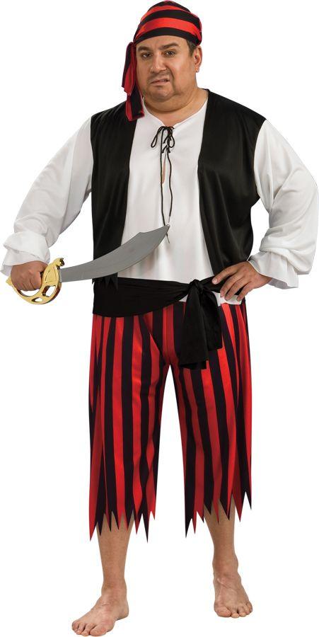 Men's Plus Size Pirate Costume