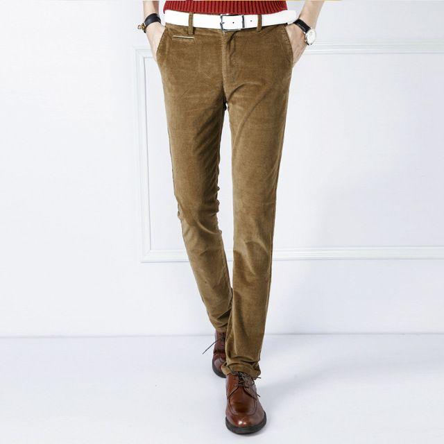 2015 mince pantalon hommes respirant extensible de Haute Qualité en velours côtelé pantalon hommes marque de mode-vêtements hommes jogger pantalon broek heren