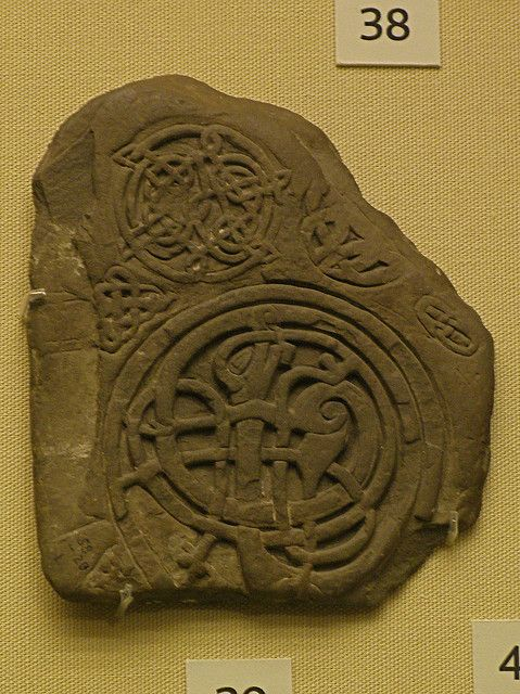 Slate trial piece showing Urnes style animal interlace, from Killaloe, County Clare, Ireland.From the collection of the British Museum, London, England. Urnes Style. This latest and final style of Viking art dates from a little before 1050 until the early part of the twelfth century