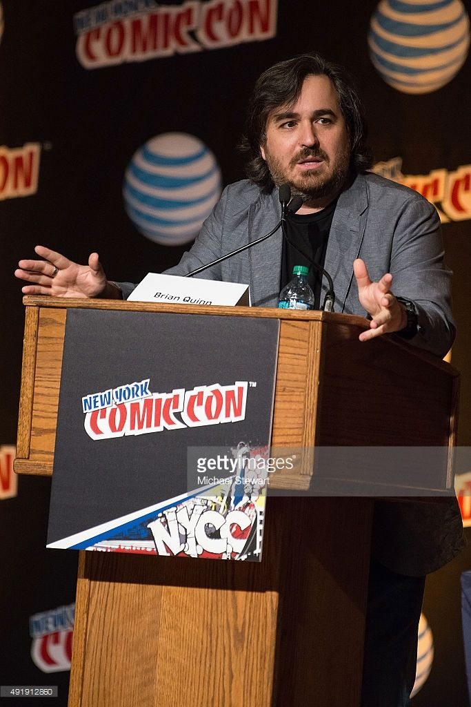 Brian Quinn attends the '12 Monkeys' panel during New York Comic-Con Day 1 at The Jacob K. Javits Convention Center on October 8, 2015 in New York City.