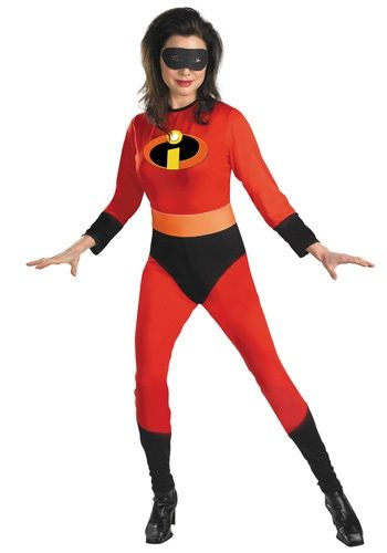 Adult Mrs. Incredible Costume - Disney Incredibles Halloween Costumes