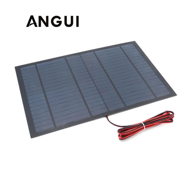 18v 556ma 10watt 10w Solar Panel Standard Pet Polycrystalline Silicon Charge For 12v Battery Charge Mod Solar Energy Panels Solar Panel System Solar Technology