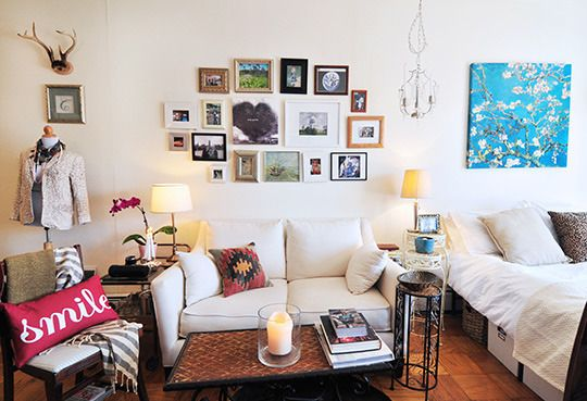 Bachelor/studio apartment, home decor, interior design