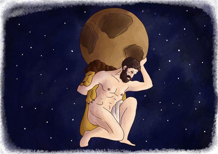 Signe astrologique du capricorne mythe d'Atlas