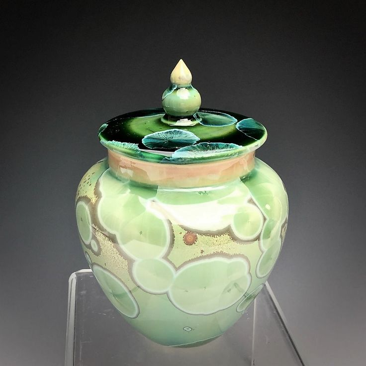 Water Lily pet urn. An one of a kind porcelain handmade artisan cremation pet urn.