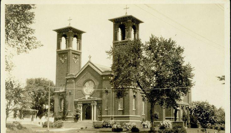 Old St. Dominic Catholic Church, Northfield, MN, razed 1985