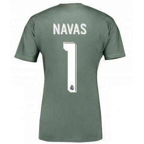 Real Madrid Brankářské Keylor Navas 1 Domácí Dres 17-18 Krátký Rukáv