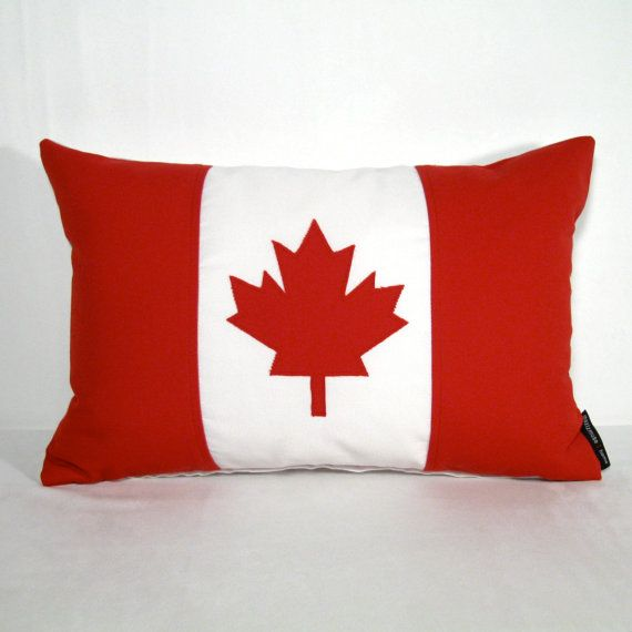 Canada Flag Pillow Cover  Canadian Pillow  Outdoor  by Mazizmuse, $65.00