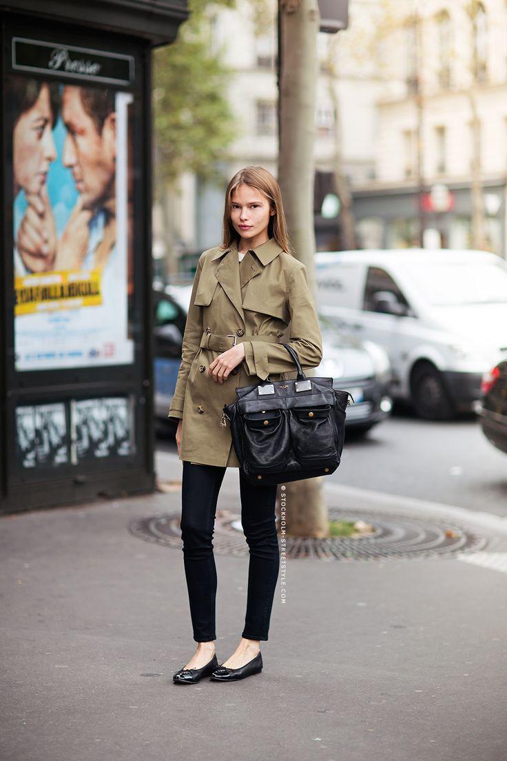 #IrinaDenisova trenching it #offduty in Paris.