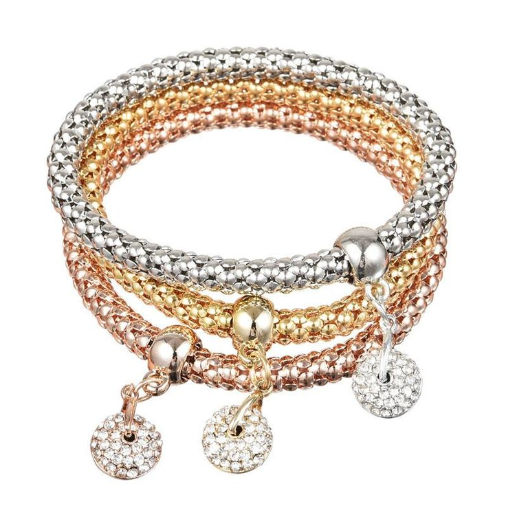 Elephant Wrap Charm Bracelet Gold Filled Fish Star Crystal Bangles Silver Bracelets