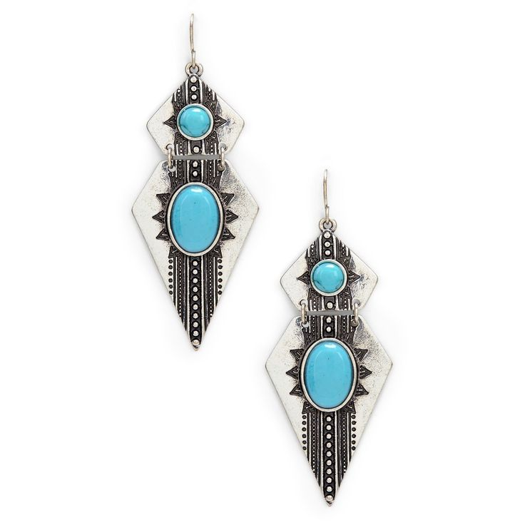 """Sole Society """"etched dagger earrings"""", $19.95"""