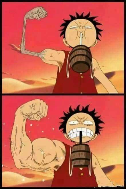 Luffy, One Piece Alabasta <<< the lesson we can take from this scene; Stay hidrated! Look what water can do to your body. Lol