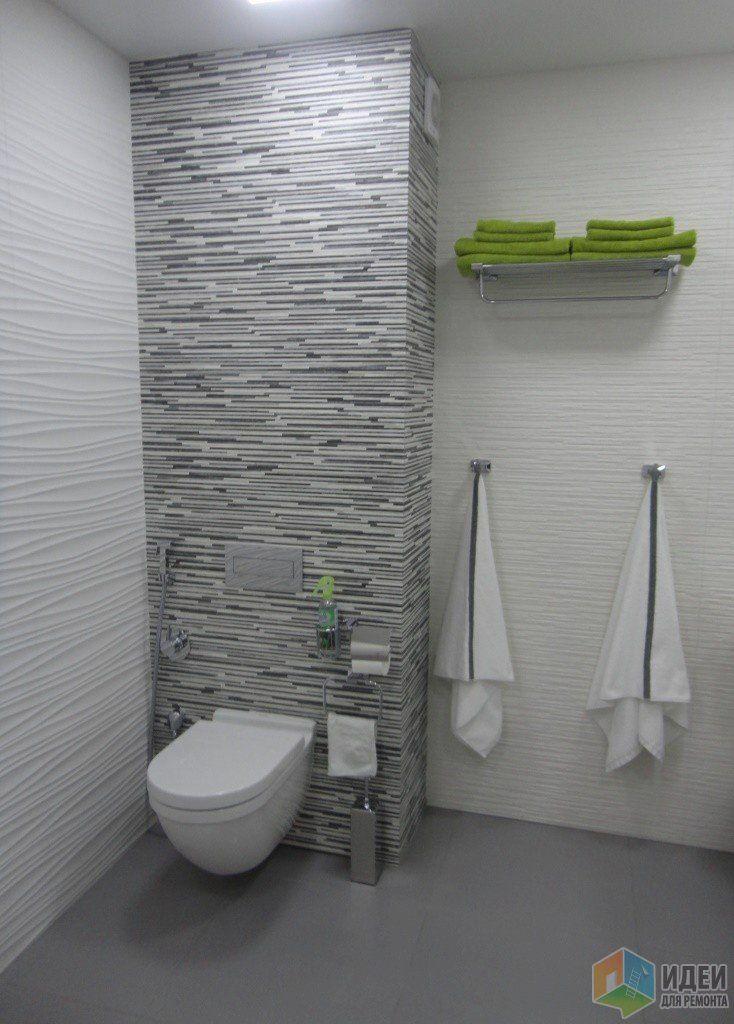Бело-серый санузел фото
