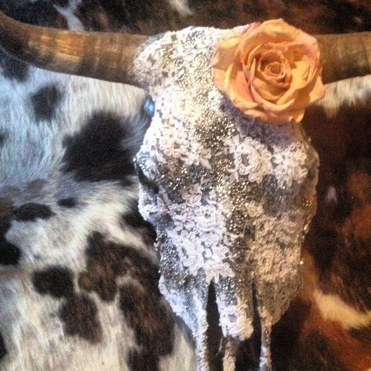 Blushing bride cowskull