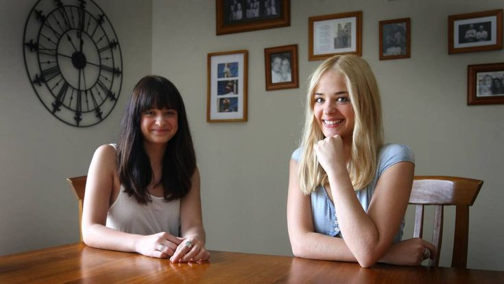 Set for stardom: Karina (left) and Raechelle Banno are well on their way to a Hollywood career. Picture: Simon Bennett