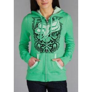 Fox Riders Co Contrast Clean Hoodie - Women's - Skate - Clothing - Irish Green