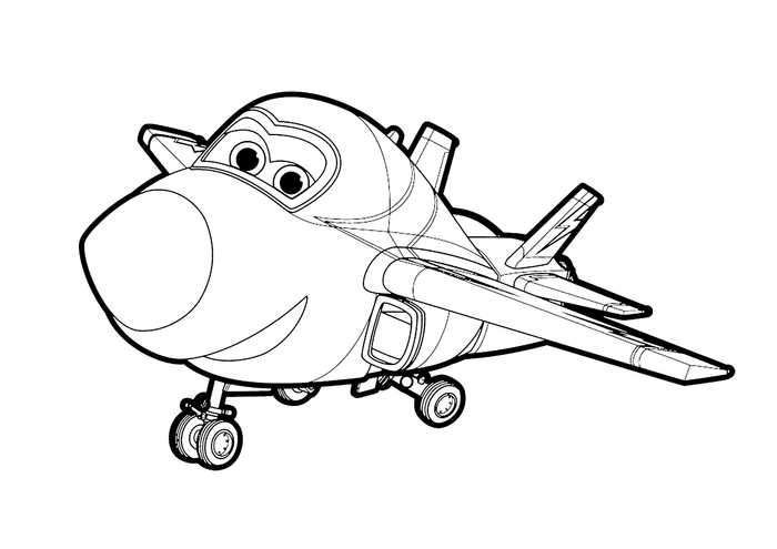 Big Wing From Super Wings Coloring Page Ausmalbilder Malbilder Ausmalen
