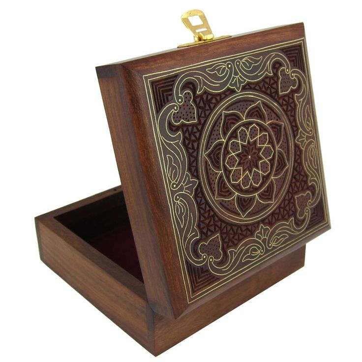 Handcrafted Jewelry Box Wood Carved Unusual Gift for Women